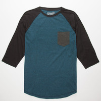 Retrofit Tri Color Mens Baseball Tee Blue  In Sizes
