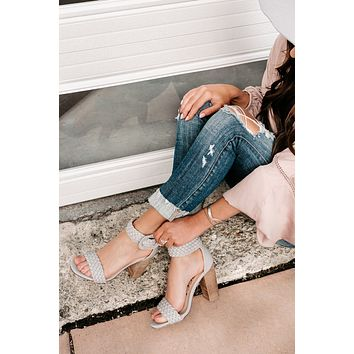 Fast Pace Braided Heels (Grey)