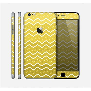The Yellow Gradient Layered Chevron Skin for the Apple iPhone 6 Plus