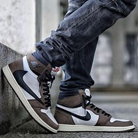 Nike AIR Jordan 1st generation AJ1 men's and women's classic basketball shoes high-top casual sports shoes