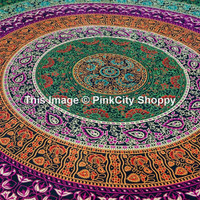 Large Indian Mandala Tapestry Hippie Hippy Wall Hanging Throw Bedspread Dorm Tapestry Decorative Wall Hanging Wall Tapestries Beach Throw