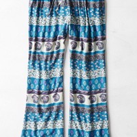 AEO Women's Printed Flare Leg Soft Pant (Teal)