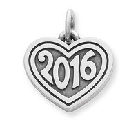 "Heart with ""2016"" Charm 