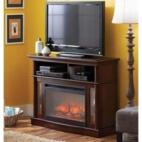 Better Homes and Gardens Media Electric Fireplace Ashwood Road, Brown - Walmart.com