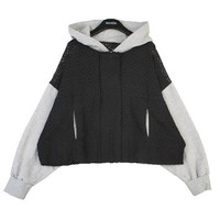 Laced Layer Contrast Hoodie | FashionShop【STYLENANDA】