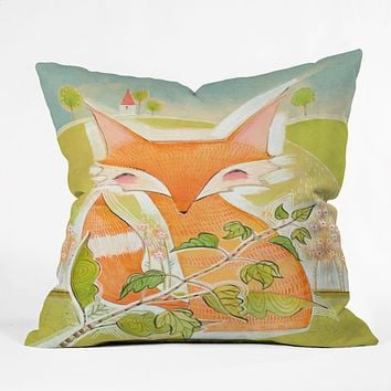 Cori Dantini Little Fox Outdoor Throw Pillow