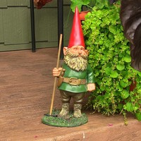 """Woody Jr. the Garden Gnome - 13.5"""" Tall"""