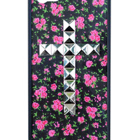 Rose Buddies Silver Studded Cross iPhone 5/5s Case