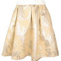 Okih Gold Jacquard Skirt