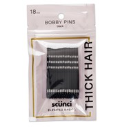 Scunci Strong Hold Bobby Pins Black - 18pk