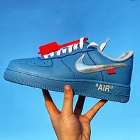 Nike Air Force 1 Low fashion wild leather breathable cushioning shoes