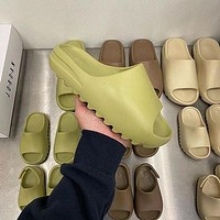 "Adidas Yeezy Slide 350 Boots ""Desert Sand"" coconut outdoor style beach sand wading slippers Shoes"