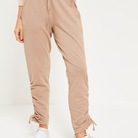 Missguided - Nude Lace Up Side Hem Joggers