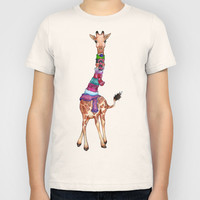 Cold Outside - cute giraffe illustration Kids T-Shirt by Perrin Le Feuvre