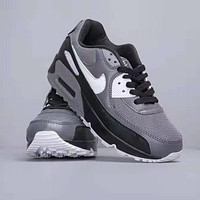 NIKE Air Max 90 Fashion Women Men Retro Casual Air Cushion Sport Running Shoes Sneakers Grey