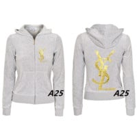 YSL multi-color logo outerwear is hot selling outerwear