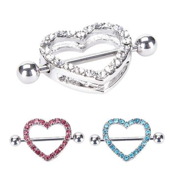 1Pc Punk Heart Barbell Piercing