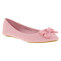 Office ROSEMARY BOW PINK FABRIC Shoes - Womens Flats Shoes - Office Shoes