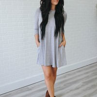 Perfect Addition Dress - Heather Grey