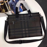 BURBERRY MEN'S HOT STYLE LEATHER BRIEFCASE BAG CROSS BODY BAG