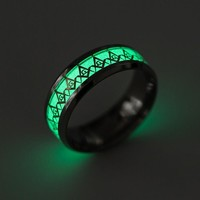 Stylish Shiny New Arrival Gift Jewelry Men Titanium Strong Character Accessory Noctilucent Ring [10059714883]