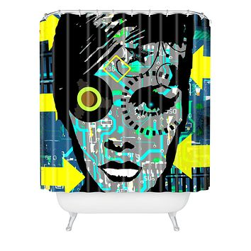 Amy Smith Feeling Blue Shower Curtain