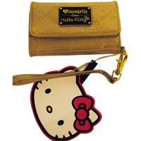 Hello Kitty Gold Embossed Cell Phone & Card Holder