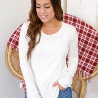 The Perfect Long Sleeve Top - Ivory