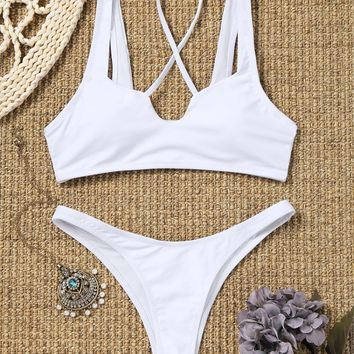 Thong High Cut Bikini Set