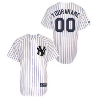 New York Yankees Youth Replica Personalized Home Jersey by Majestic Athletic - MLB.com Shop