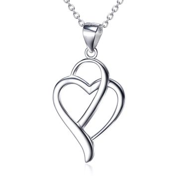 Heart ShapePendant 925 Silver Necklace