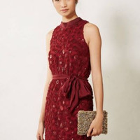 NWT ANTHROPOLOGIE by SACHIN & BABI WINE SEQUIN CUTOUT DRESS