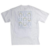 If the Shoe Fits Tee in White by Southern Proper