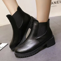 On Sale Hot Deal Round-toe Dr. Martens Winter England Style Flat Shoes Boots [7993610305]