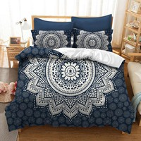 Home Textiles 2017 new flowers Bohemia Twin full queen king 3pcs Bedding Set Bedclothes Duvet Cover Pillowcase Bed Linen