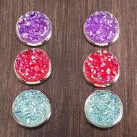Druzy earring set- Boho drusy stud set - druzy earrings