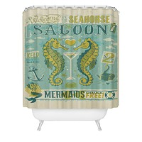 Anderson Design Group Seahorse Saloon Shower Curtain