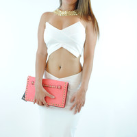 (anq) X Factor ivory bodycon top