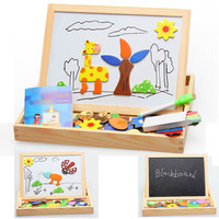 Baby Kids Wood Magnetic Oppssed Child Educational Toys Animal Spells Happily