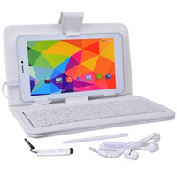 Maxwest Nitro Phablet71 Dual-Core 4GB 7 Unlocked Phone/Tablet w/4G Dual-SIM Android 4.4 Case Keyboard More (White)