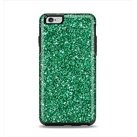 The Green Glitter Print Apple iPhone 6 Plus Otterbox Symmetry Case Skin Set
