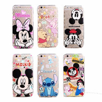 Hello Kitty Princess Mickey Minnie Mouse Pooh Bear Disney  iphone 6  iphone 6 Plus Case