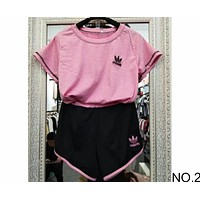 ADIDAS summer sports suit short sleeve shorts casual two-piece suit NO.2