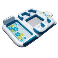 """Amazon.com: New Giant Inflatable Floating Island 6 Person Raft Pool Lake Float 15'-8""""x 9'-4': Sports & Outdoors"""