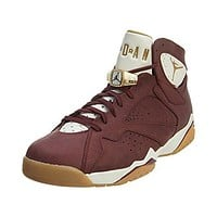 "Nike Mens Air Jordan 7 Retro C&C ""Cigar"" Team Red/Metallic Gold-Sail Leather"