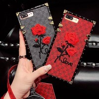 Embroider Fashion iPhone Phone Cover Case For iphone  s plus s-plus  plus hard shell
