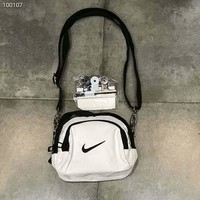 NIKE men and women couples clip bag small bag handbag Messenger bag F-Great Me Store white