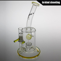 slyme green TORO Glass Jet Perc Leprechaun Glass Bong purple glass bubbler water pipes oil rig dab rigs Water Pipes honeycomb free shipping
