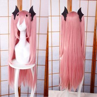 High Quality 100CM Long Straight Krul Tepes Wig Owari no Seraph Of The End Synthetic Hair Anime Cosplay Wig Ponytail Wigs