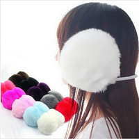 Rabbit Fur Earmuffs Plush Ear Cover Earmuffs